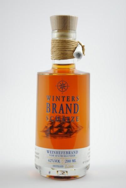 Weinhefebrand vom Spätburgunder im Eichenfass gereift 200ml, Winters Brandschätze