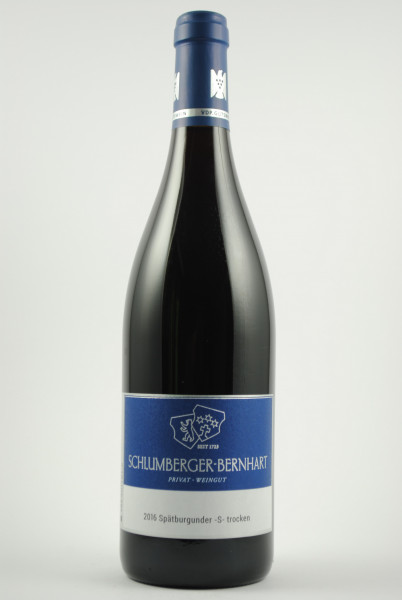 2016 Spätburgunder S QbA trocken, Schlumberger-Bernhart