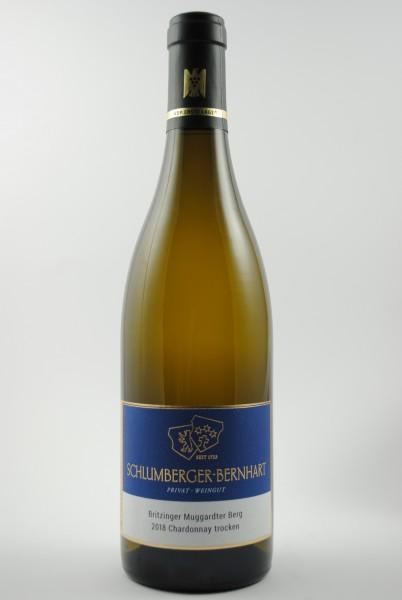 2018 Chardonnay Muggardter Berg 1.Lage QbA trocken, Schlumberger-Bernhart