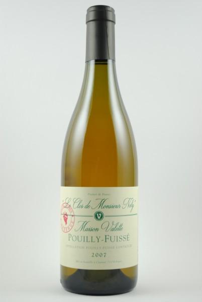 2007 Pouilly-Fuissé Clos de Mr Noly, Réserve Vieilles Vignes, Valette