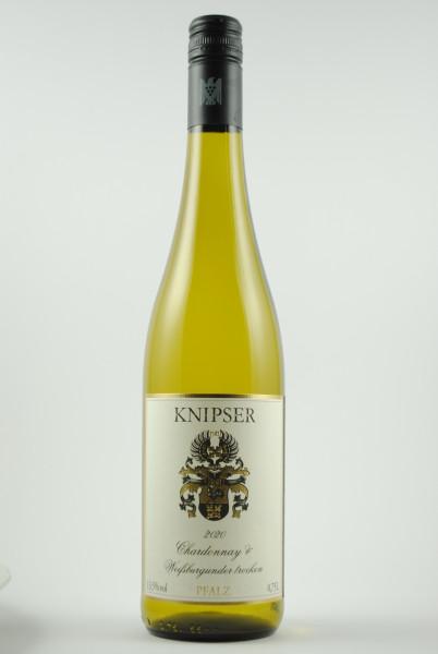 2020 Chardonnay & Weissburgunder QbA trocken, Knipser