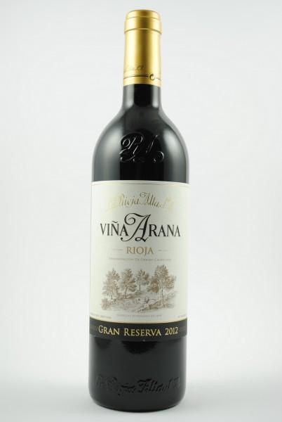 2012 VIÑA ARANA Gran Reserva, La Rioja Alta