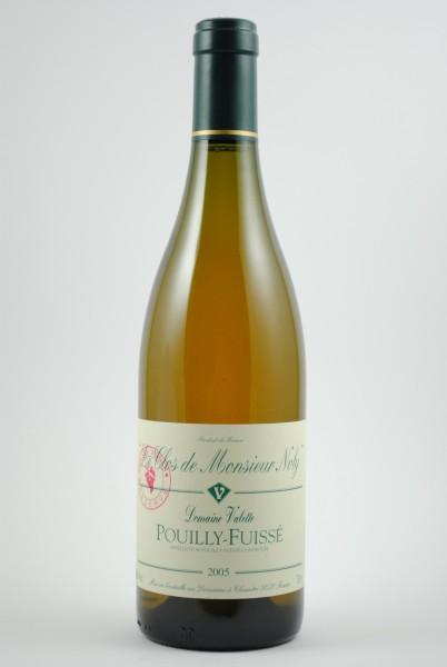 2005 Pouilly-Fuissé Clos de Mr Noly, Réserve Vieilles Vignes, Valette
