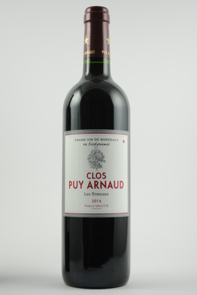 2016 Clos Puy Arnaud Cuvée Les Ormeaux