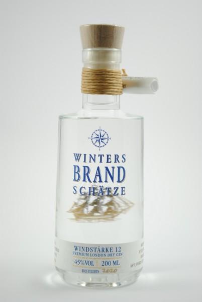 Windstärke 12 Premium London Dry Grin 200ml, Winters Brandschätze